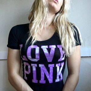 Victoria's Secret Pink Tie Dye Stitched T Size XS